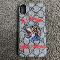 Чехол gucci iphone x case with tiger gg supreme iPoster.ua