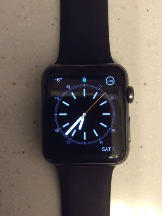 Apple Watch (1 Gen) 42mm Space Gray Aluminium Case Sport Band БУ iPoster.ua