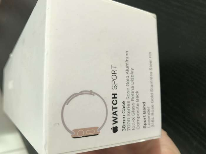 Apple Watch (1 Gen) 38mm Rose Gold Stainless Steel Case Sport Band БУ iPoster.ua