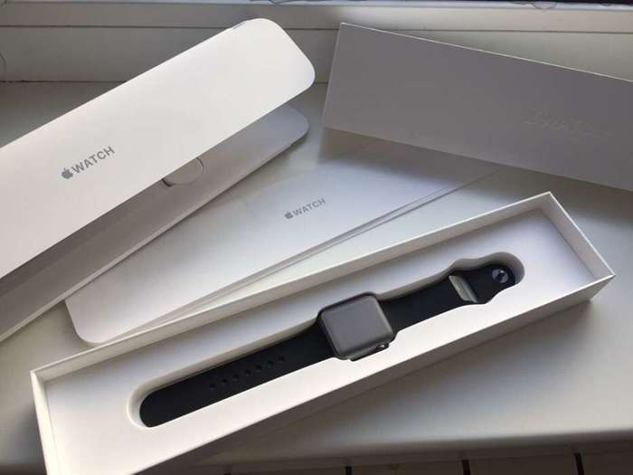 Apple Watch Series 1 38mm Space Gray Aluminium Case Sport Band iPoster.ua