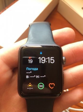 Apple Watch Series 1 42mm Space Gray Aluminium Case Sport Band БУ iPoster.ua