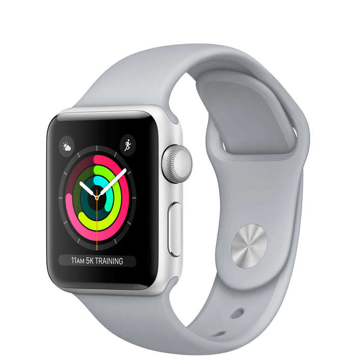 Apple Watch Series 3 38mm Silver Aluminium Case Sport Band iPoster.ua