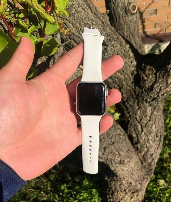 Apple Watch Series 3 38mm Silver Stainless Steel Case Sport Band БУ iPoster.ua