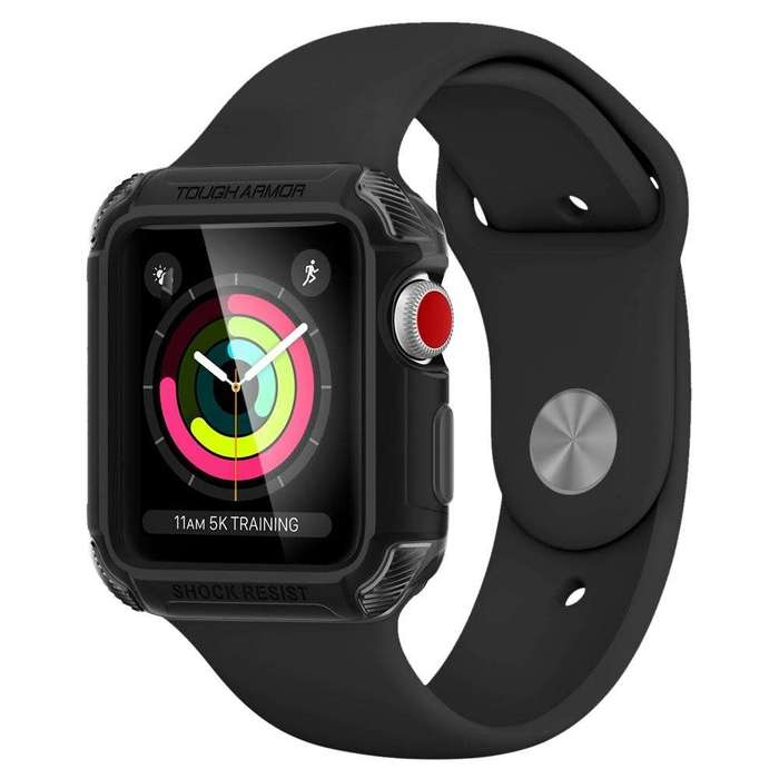 Чехол Spigen Tough Armor 2 Matte Black для Apple Watch 42mm Series 3/2 iPoster.ua