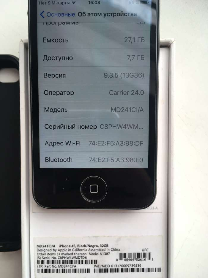 iPhone 4s 32 GB Black БУ iPoster.ua