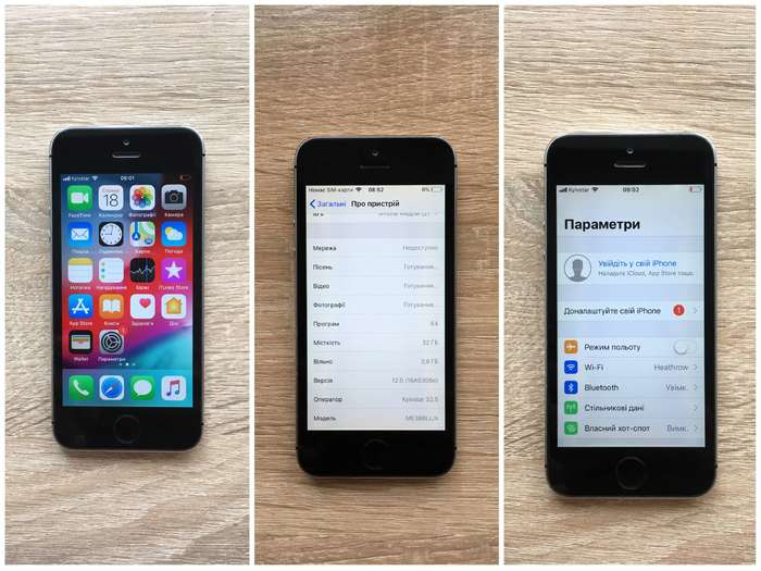 iPhone 5s 32 GB Space Gray БУ iPoster.ua